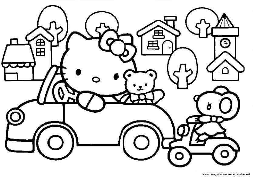 disegni da colorare hello kitty formato a4